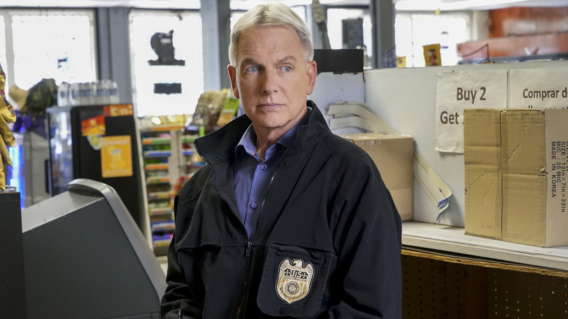 Gibbs arrives at a crime scene.