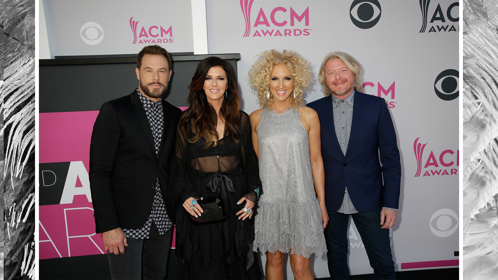 "Little Big Town ""Bring It On Home"" in a variety of grays, blacks, and blues."