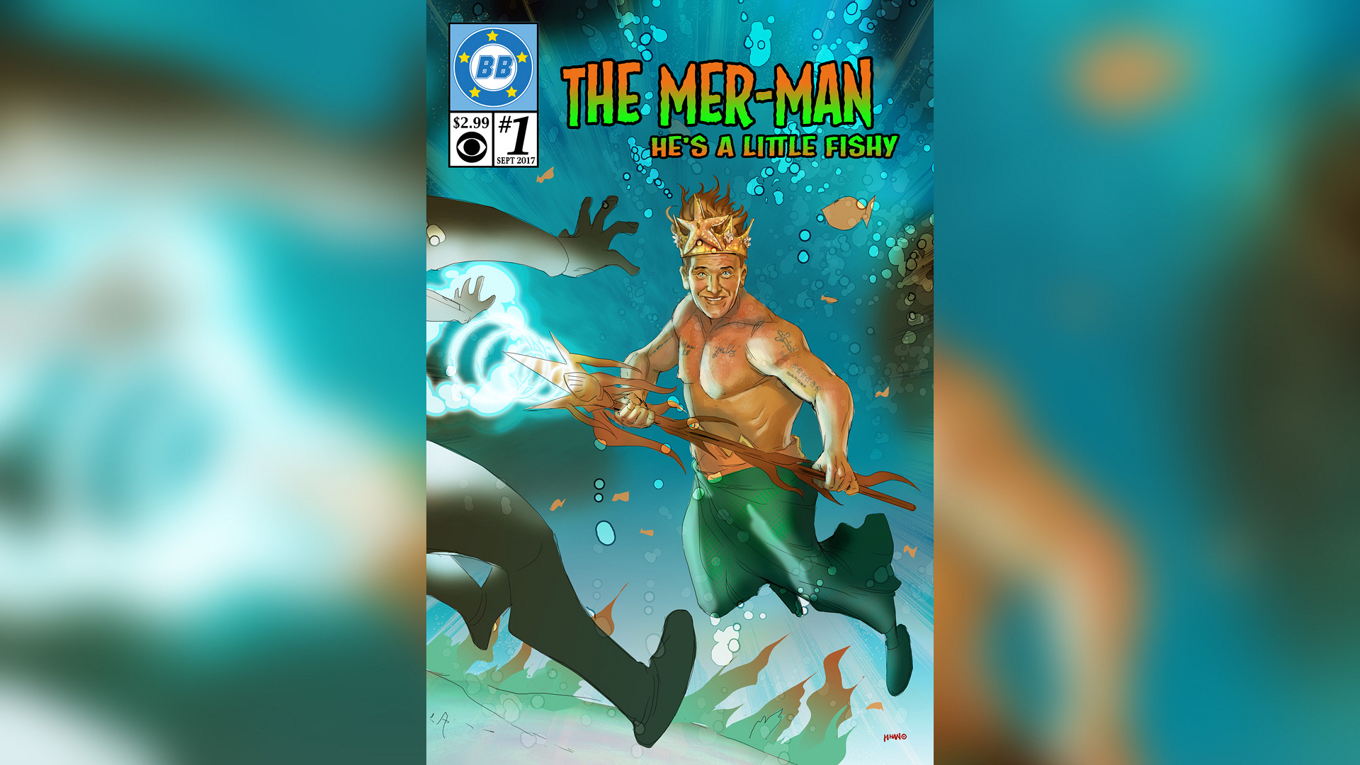 "Kevin as ""The Mer-Man"""