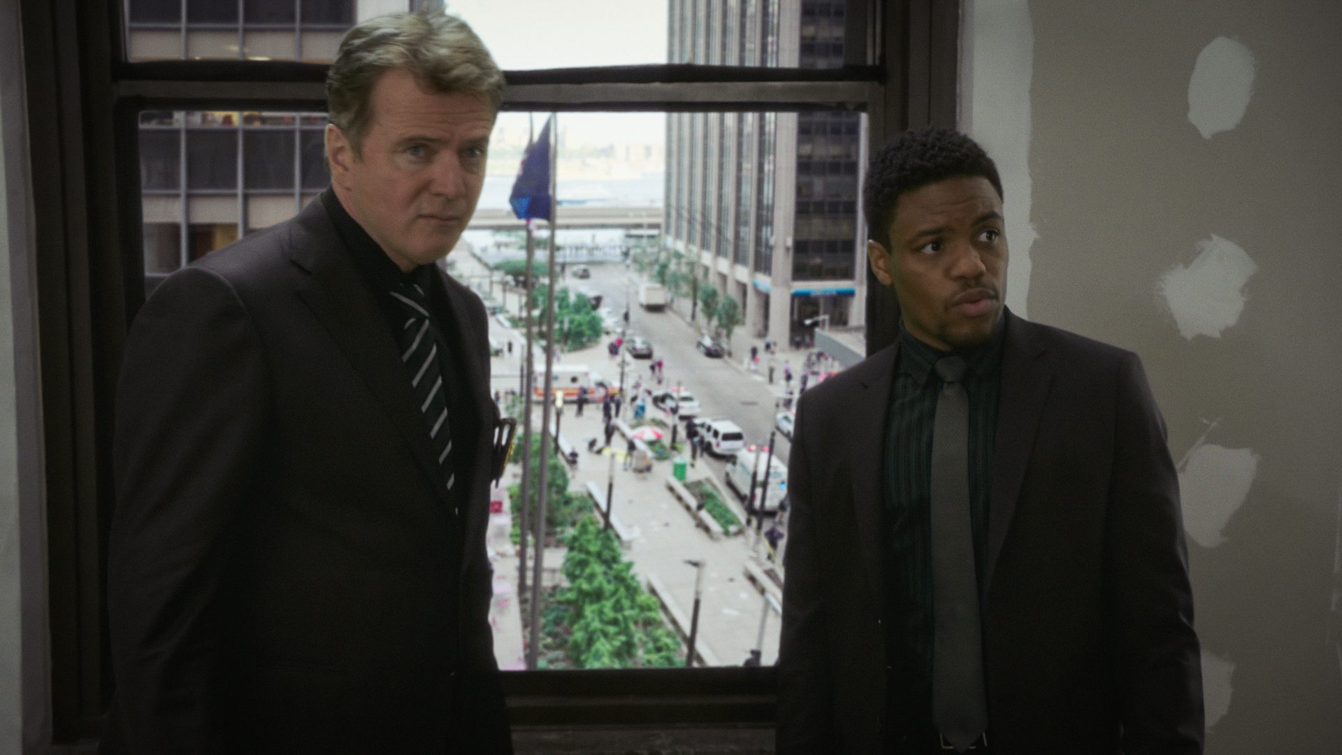 Aidan Quinn as Captain Thomas Gregson and Jon Michael Hill as Detective Marcus Bell