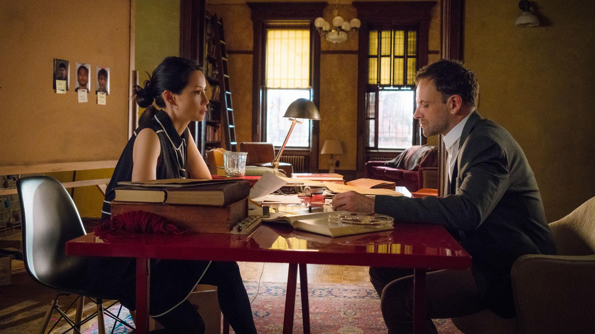 Lucy Liu as Dr. Joan Watson and Jonny Lee Miller as Sherlock Holmes
