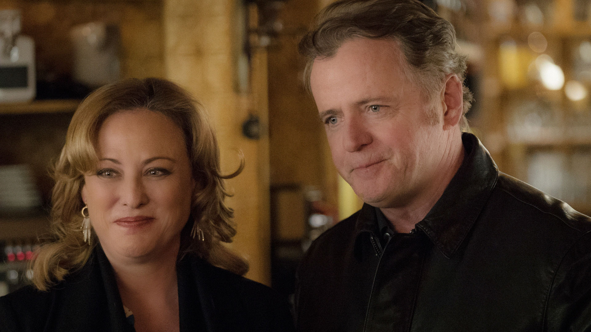 Virginia Madsen as Paige and Aidan Quinn as Captain Thomas Gregson