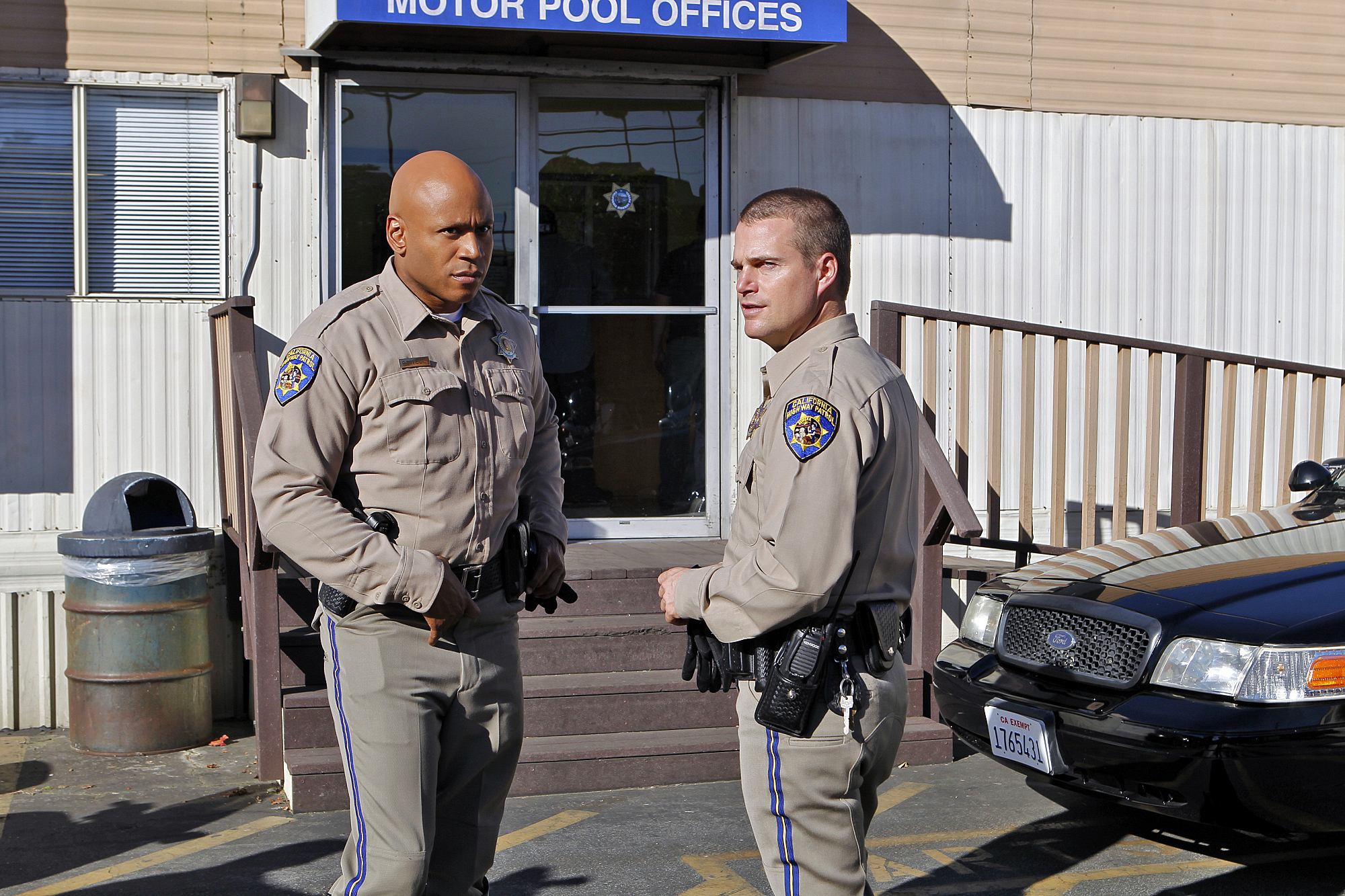 Sam and Callen, Motorcycle Cops with the CHP