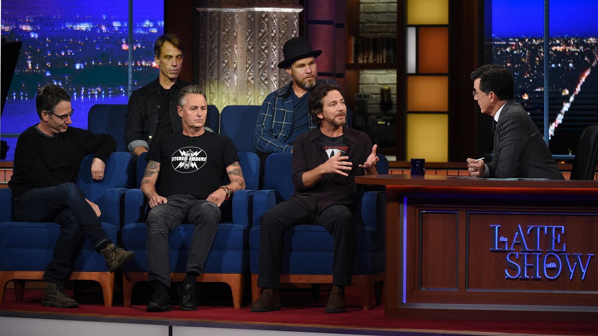 Pearl Jam and Stephen Colbert