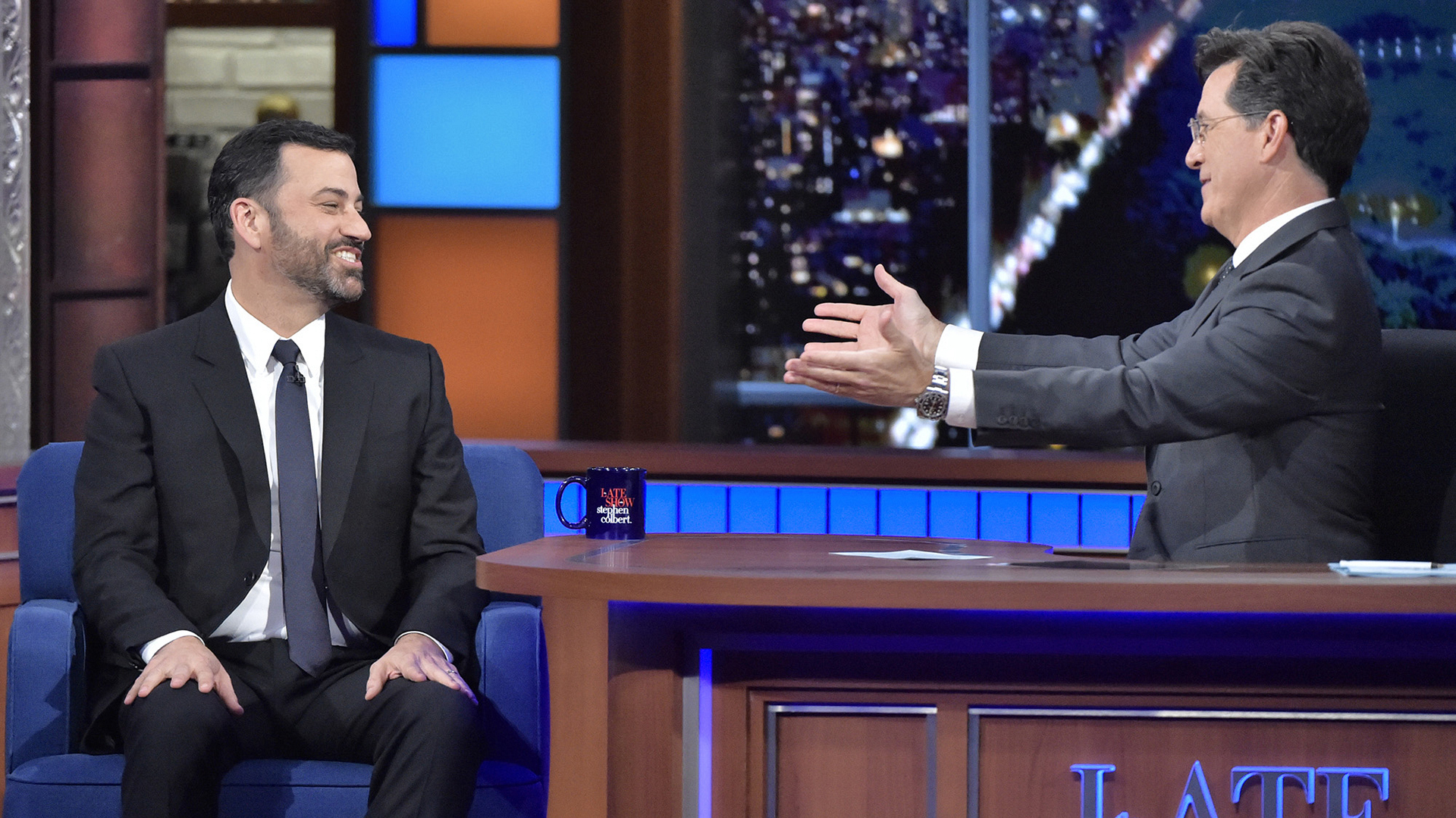 Jimmy Kimmel and Stephen Colbert