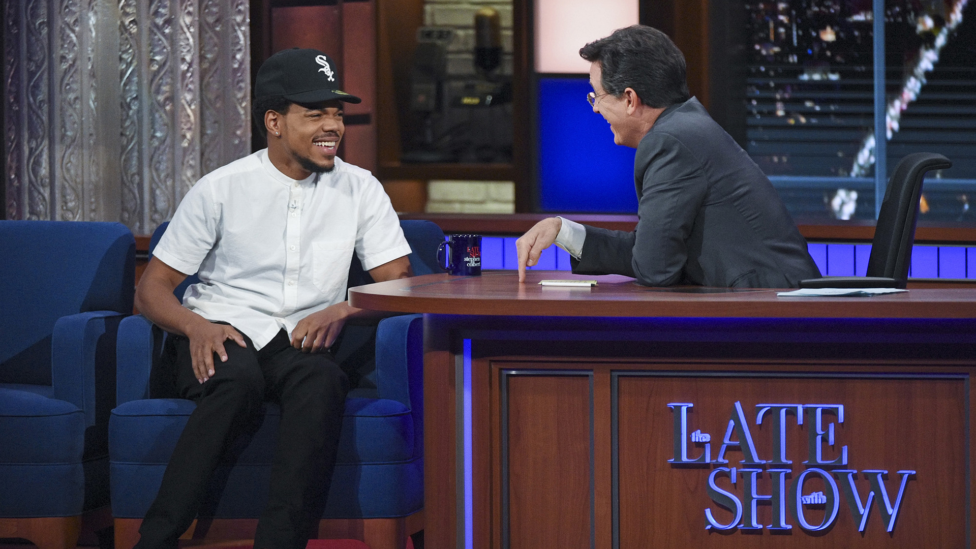 Chance the Rapper and Stephen Colbert