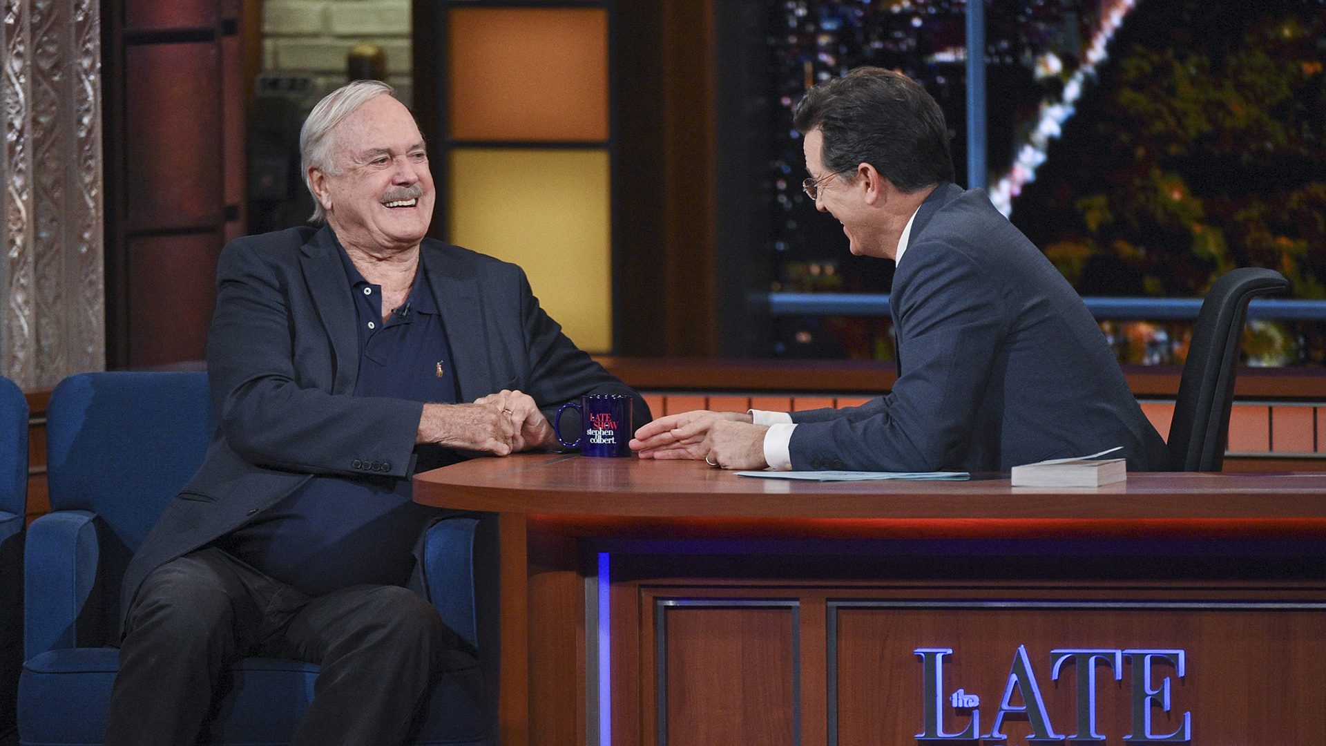 John Cleese and Stephen Colbert