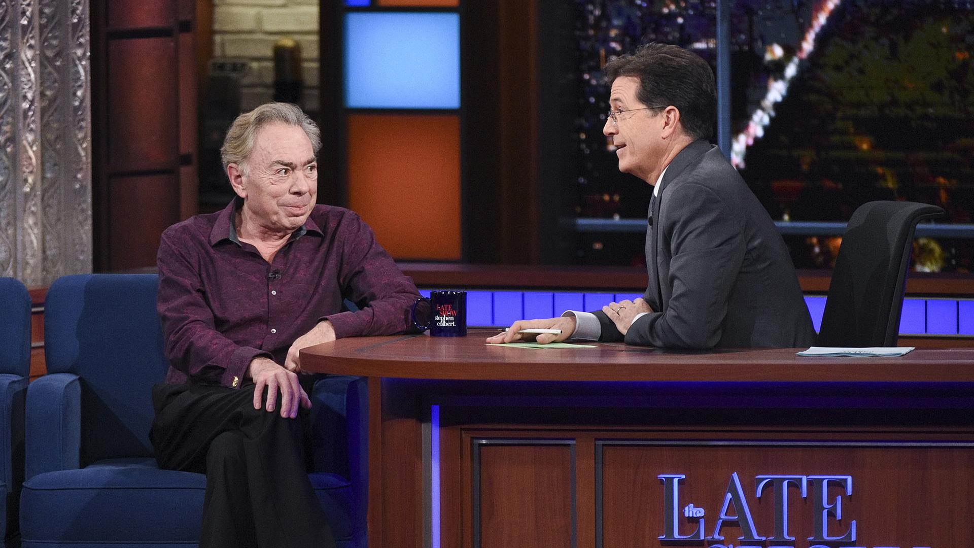 Andrew Lloyd Webber and Stephen Colbert