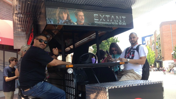 No better way to arrive at the Extant panel