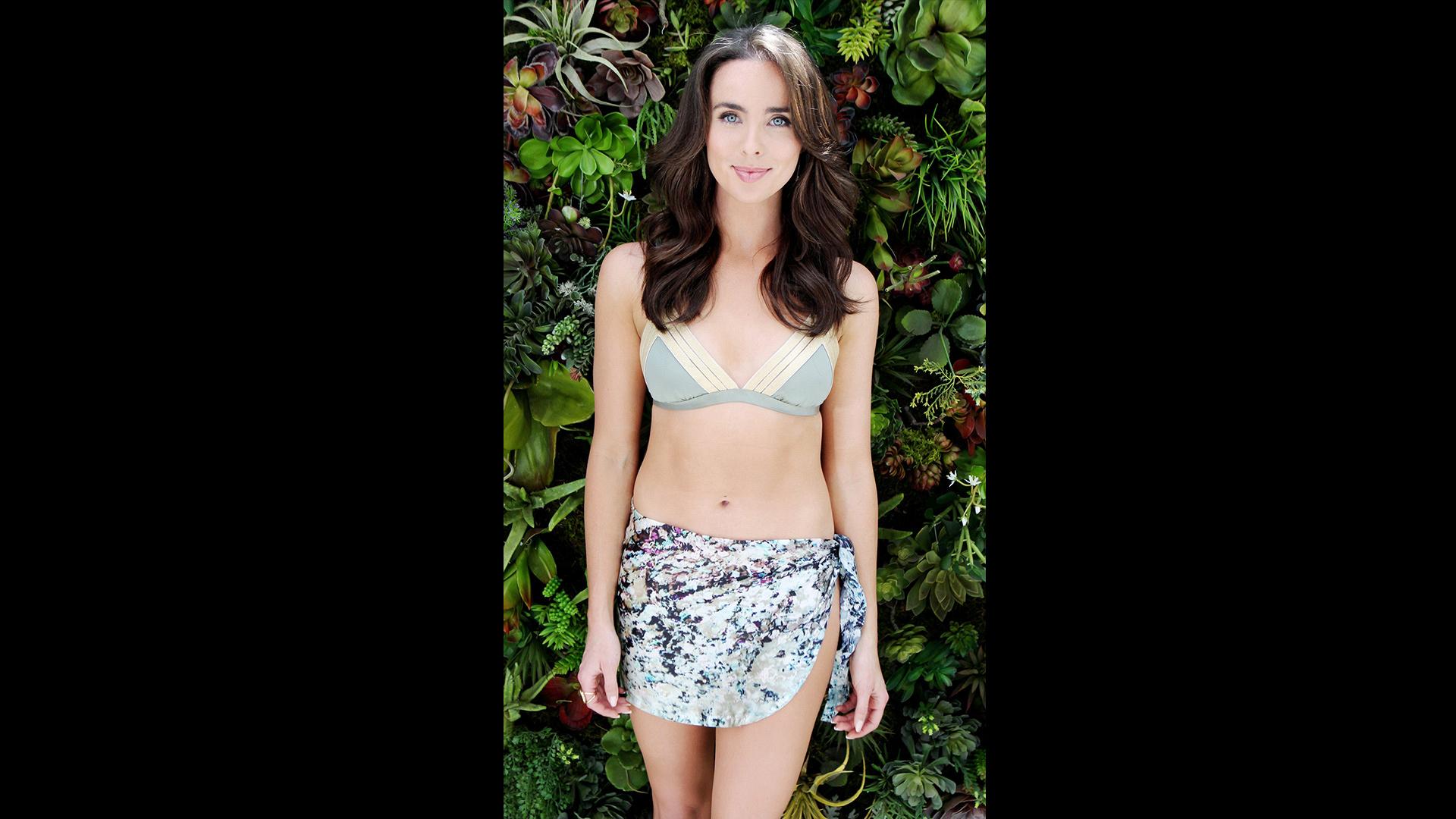 Ashleigh Brewer makes a sarong look so right.