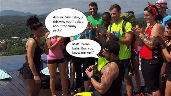 Matt pops the question in front of all the teams, and then...