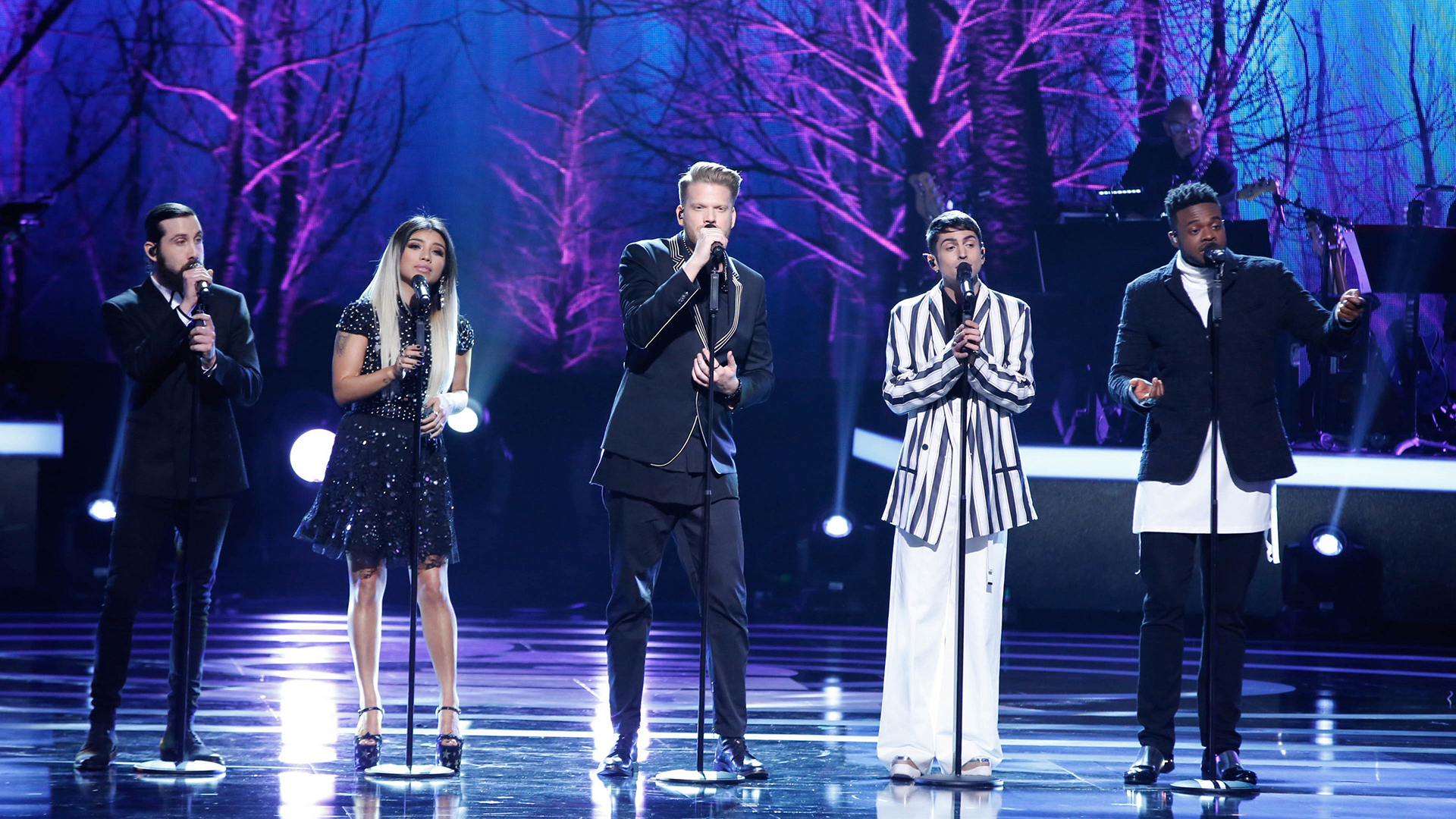 "Pentatonix performs ""Too Much Heaven"""