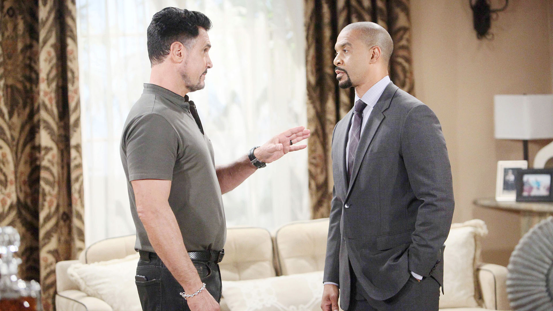 Bill sees red when Justin gives him the 411 on Liam's exorbitant spending at Spencer Publications.