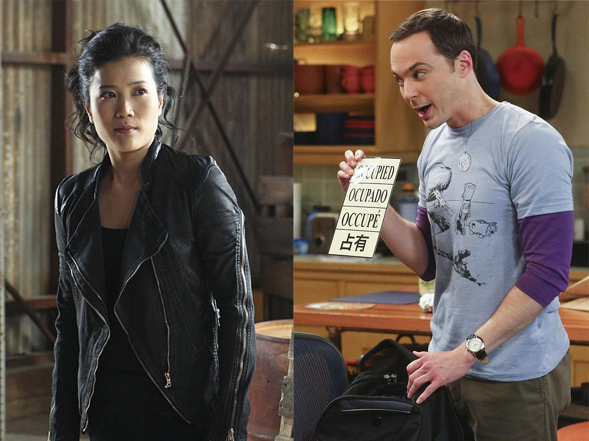 Happy Quinn and Sheldon Cooper