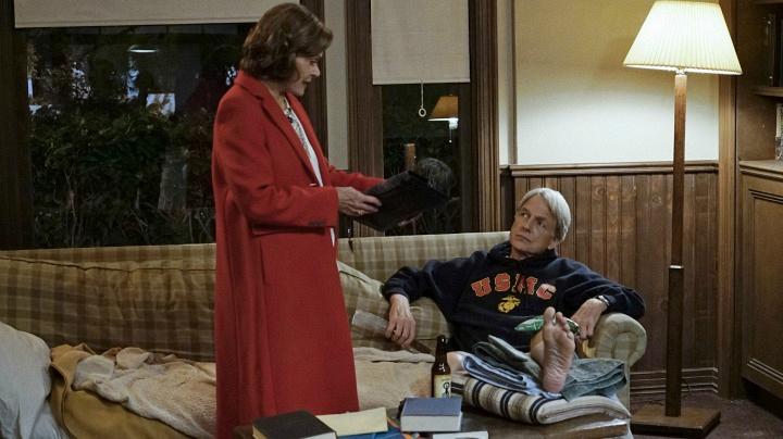 Jessica Walter as Judith McKnight and Mark Harmon as Leroy Jethro Gibbs