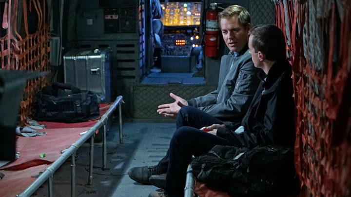 Michael Weatherly as Anthony DiNozzo and Sean Murray as Timothy McGee