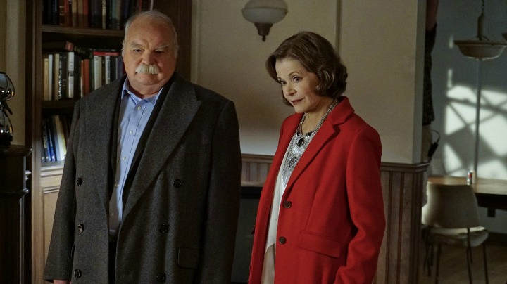 Richard Riehle as Walt Osorio and Jessica Walter as Judith McKnight