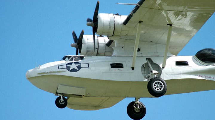 The largest flying boat in existence was built for the Navy.