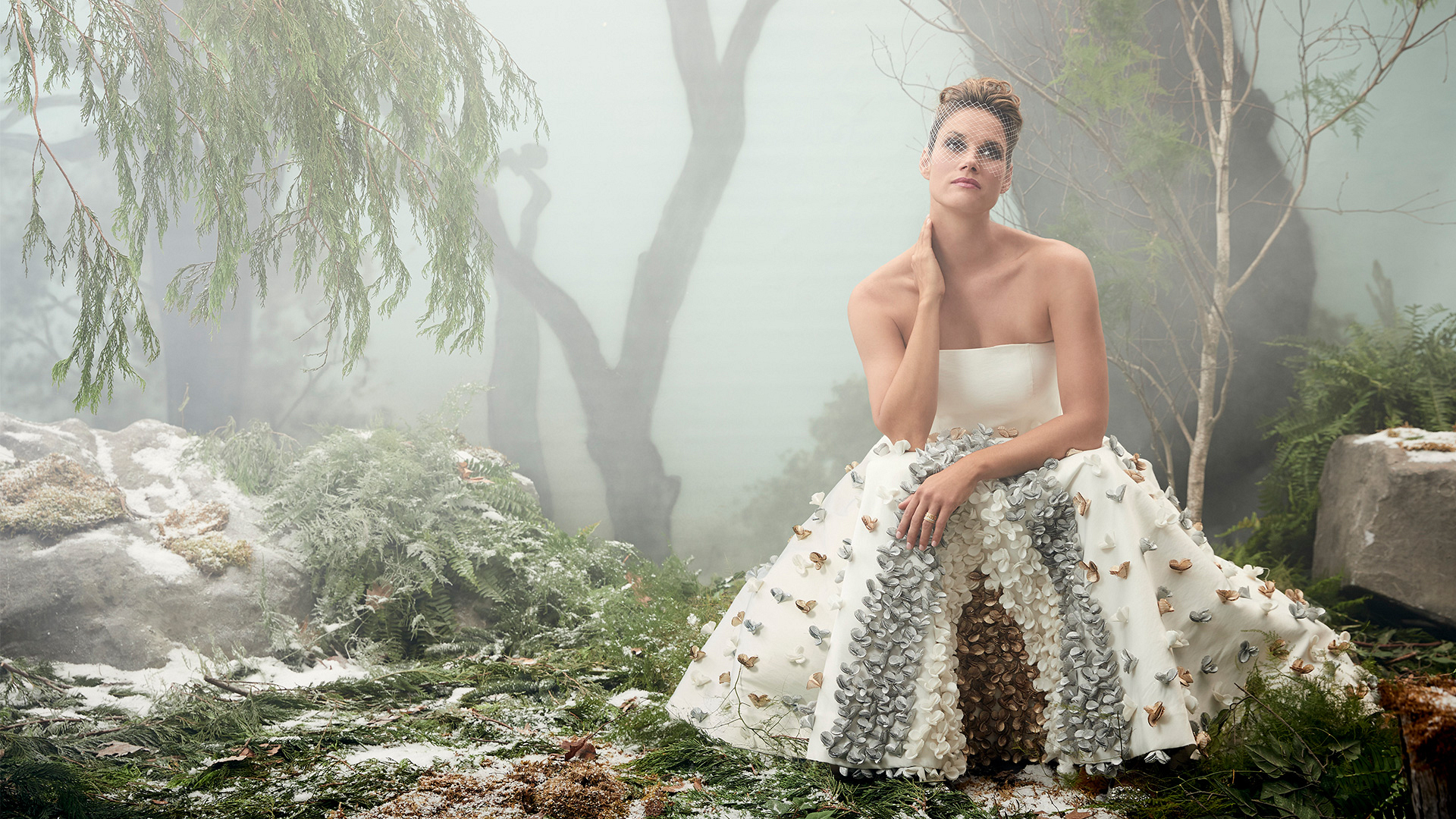 Missy Peregrym goes glam for a winter fashion shoot, and the results are magical