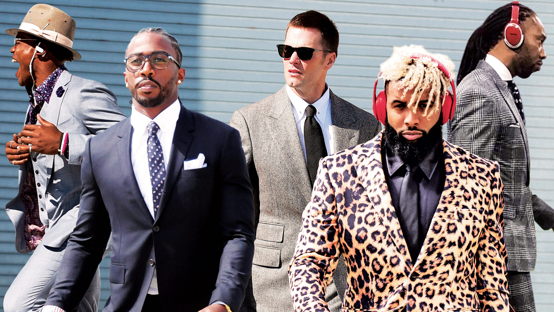 When football stars roll into town for a matchup, they dress for success