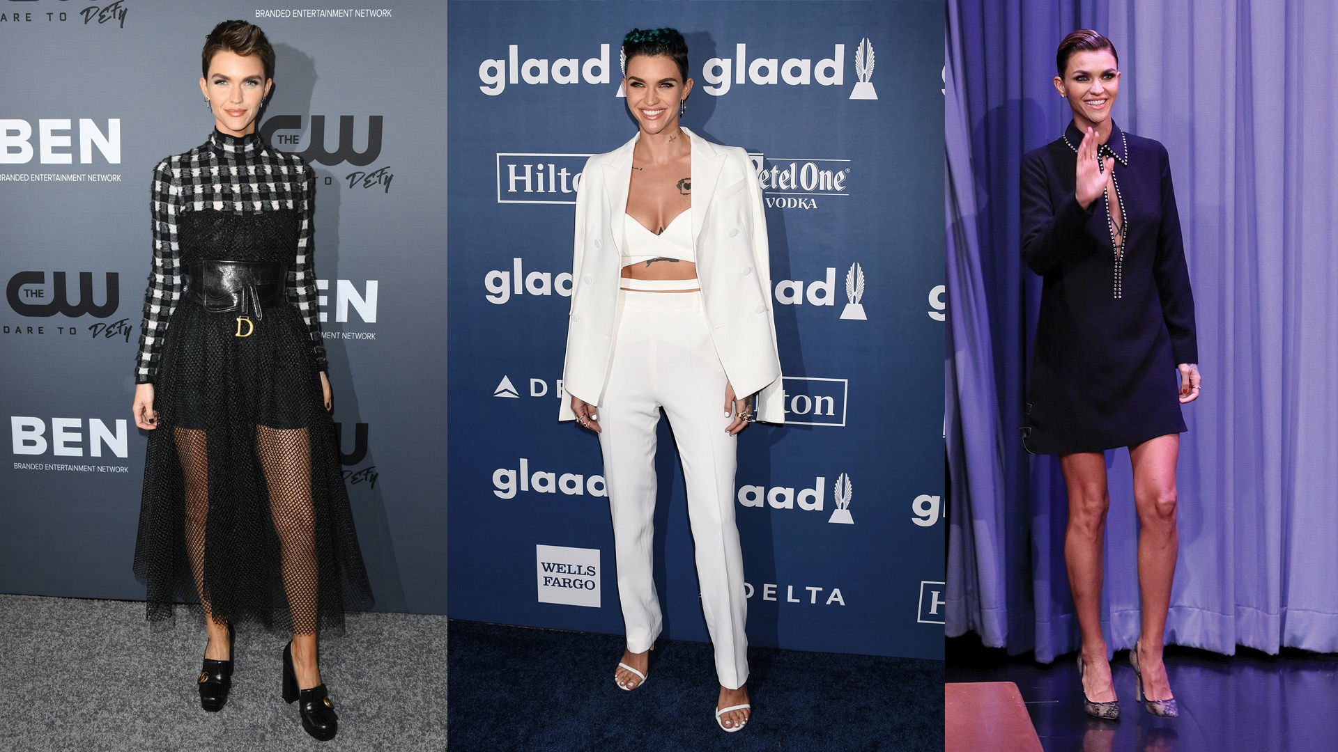 The stunning Batwoman star is a style inspiration. Click to see more of the best Ruby Rose fashion moments.