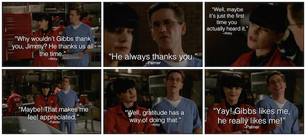 11. Who wouldn't want Gibbs's approval?