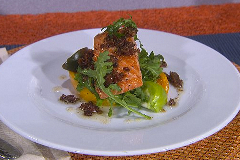 Graham Elliot's Salmon BLT (deconstructed)