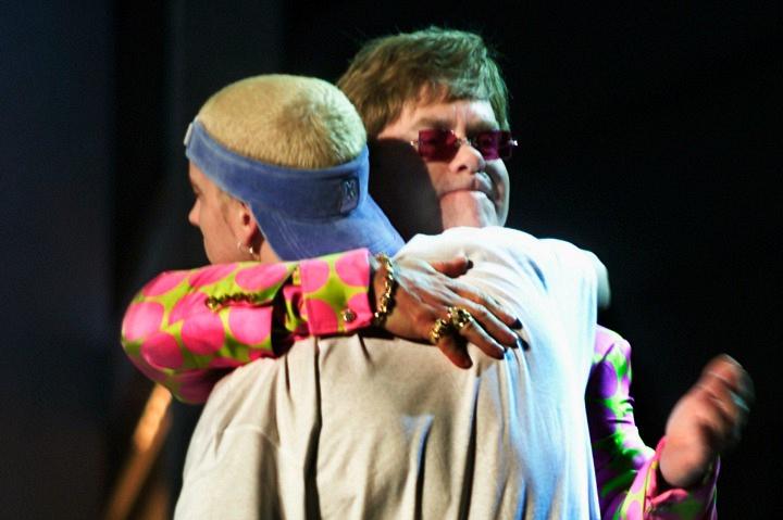 Elton John and Eminem (2001)