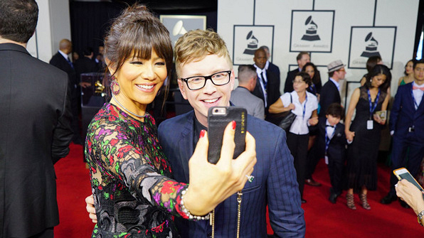 GRAMMYs 2016: Julie Chen and Tyler Oakley