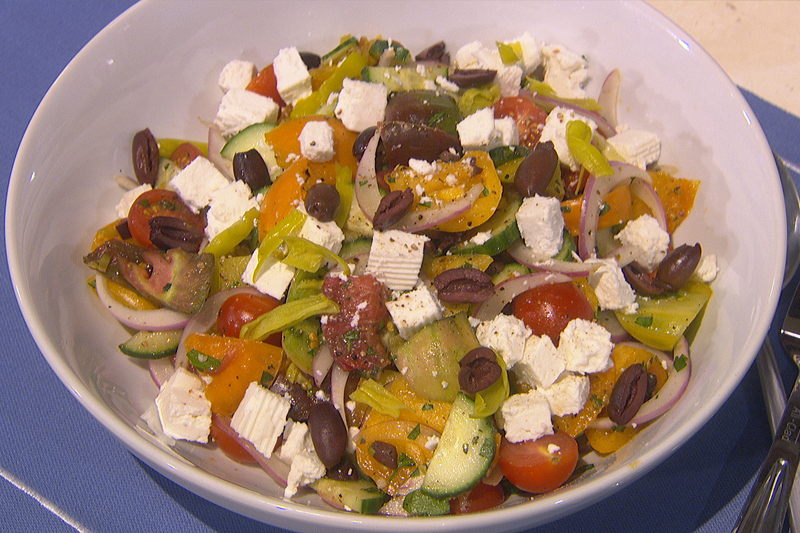 Jason Santos' Greek Style Tomato Salad