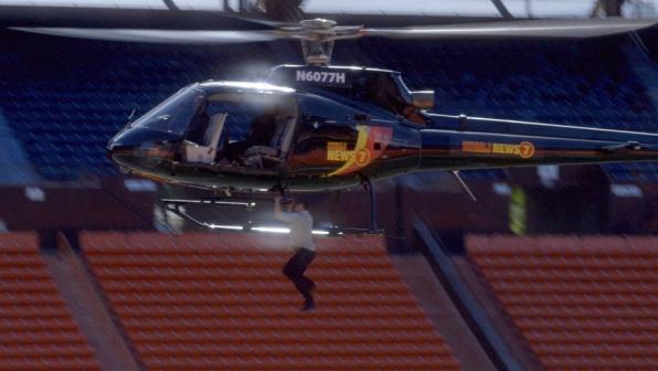 McGarrett Helicopter Stunt