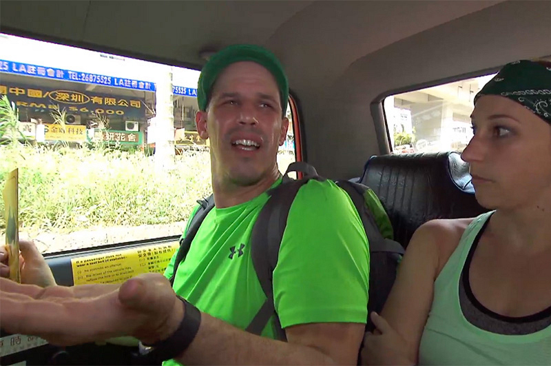 2. When #TheGreenTeam's taxi ride wasn't as smooth as they hoped.