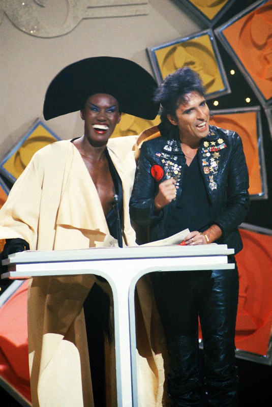 Grace Jones and Alice Cooper