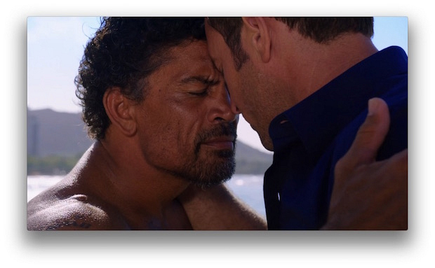 4. Kawika and Steve exchanged a honi at Leonard's funeral. It's a greeting in which parties touch noses while inhaling at the same time.