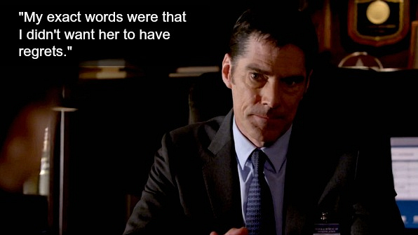 Hotchner called it quits with Beth.