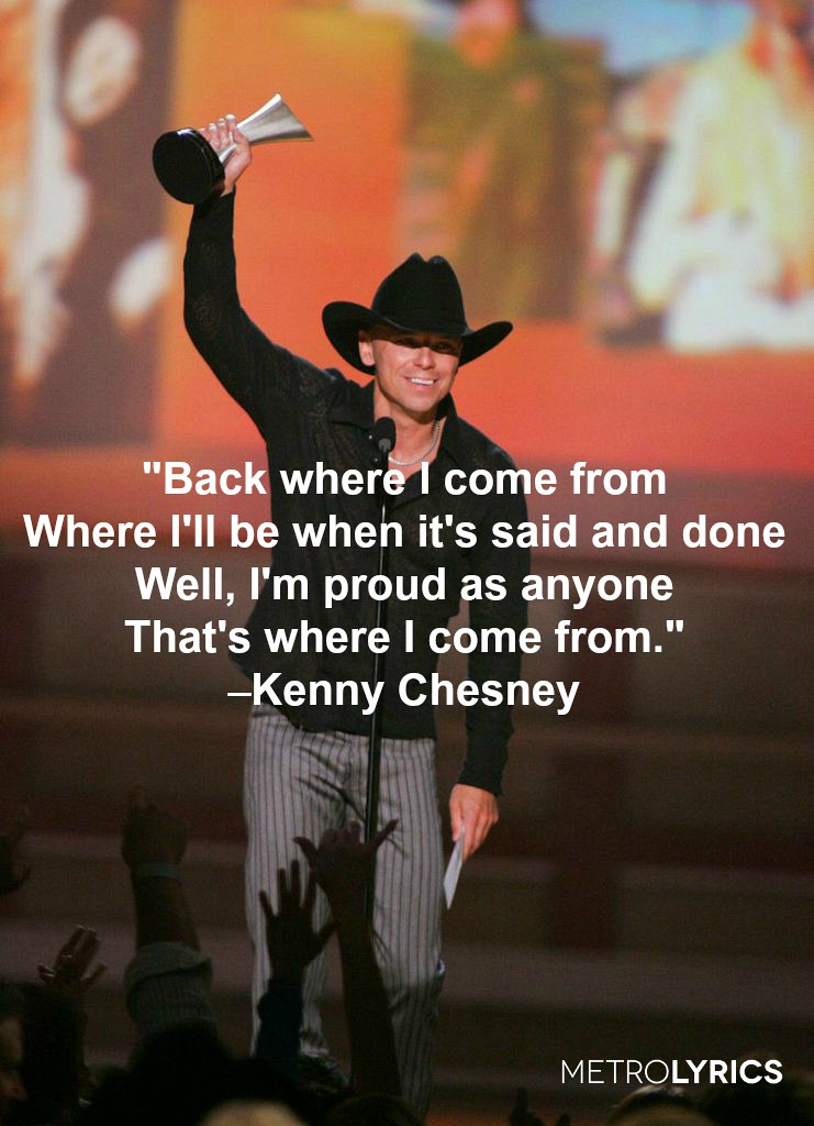 "2. Kenny Chesney, ""Back Where I Come From"""