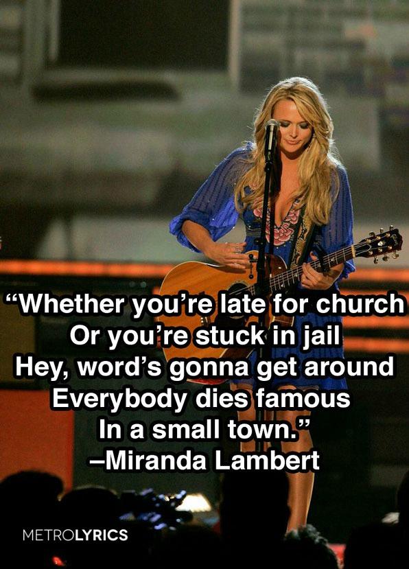 """3. Miranda Lambert, """"Famous In A Small Town"""""""