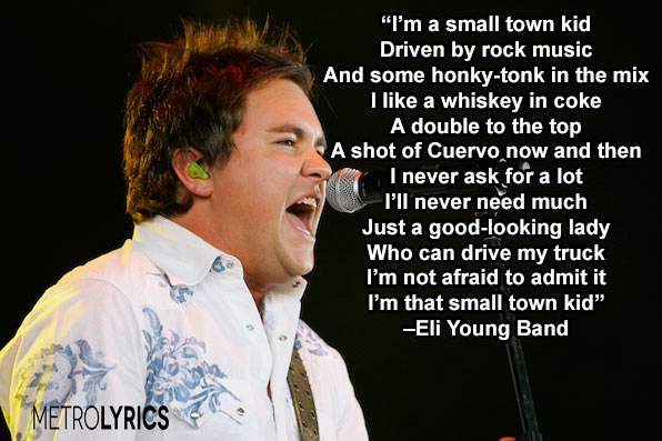 """4. Eli Young Band, """"Small Town Kid"""""""