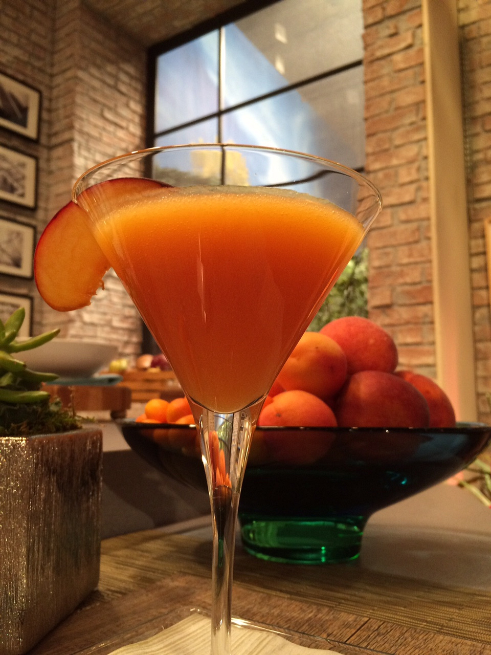 Brian Malarkey showed us how to make a Martini-Bellini