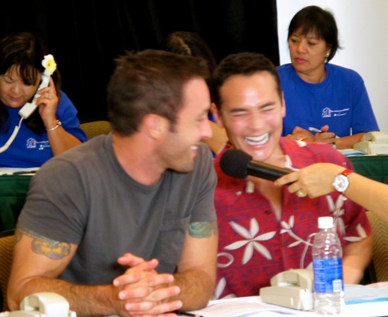 Alex O'Loughlin and Mark Dacascos