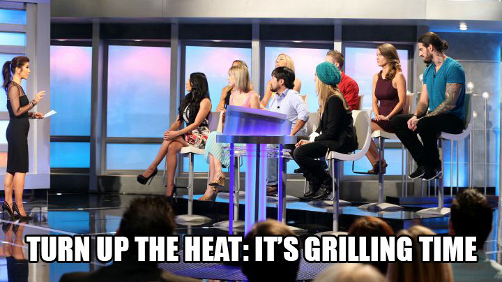 The Jury members grill the Final 2 contestants during the live interrogation.
