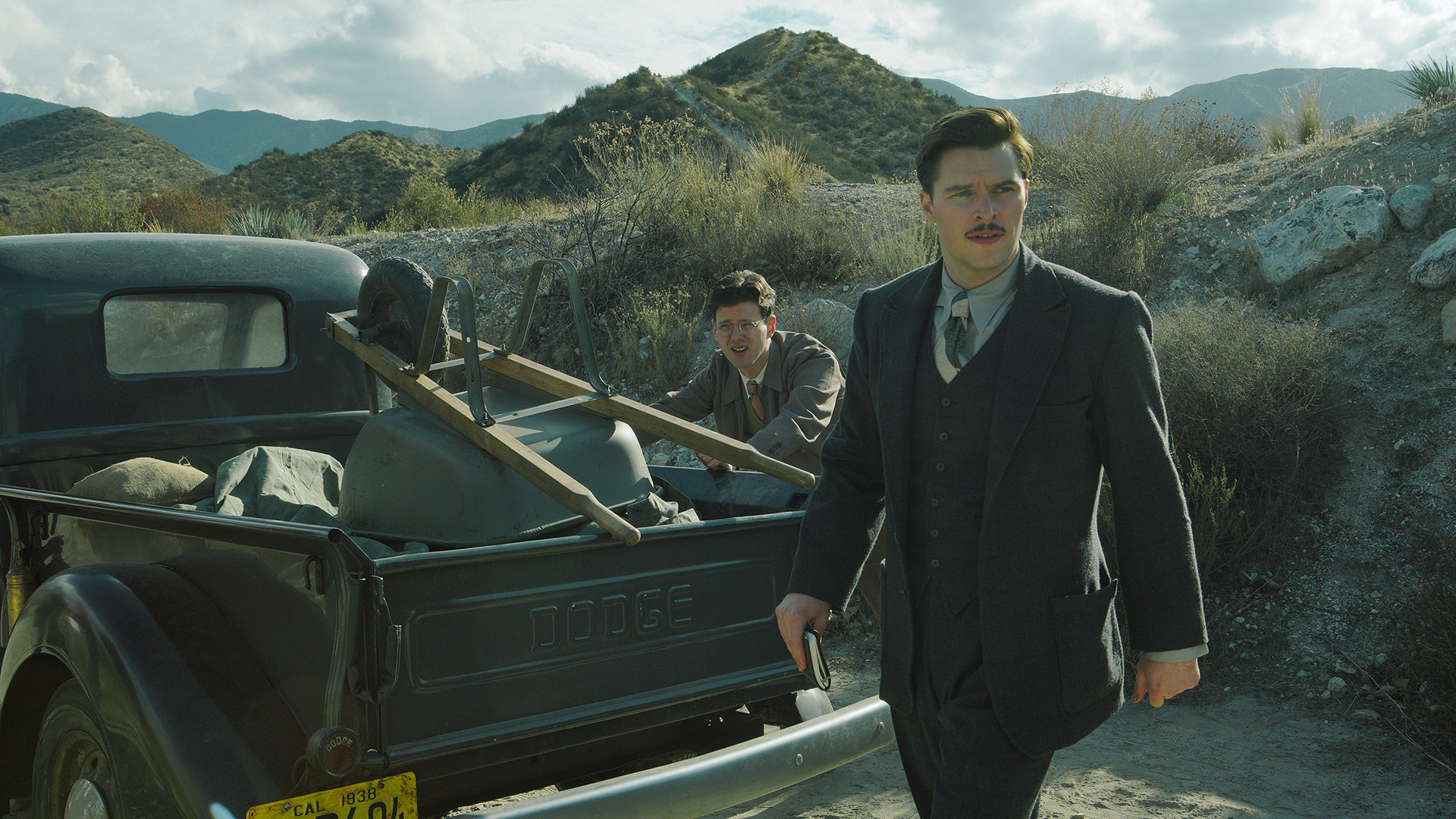 Jack Parsons (Jack Reynor) and Richard Onsted (Peter Mark Kendall)