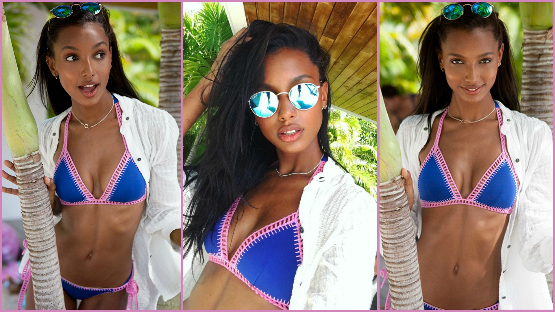 Jasmine Tookes steps out of the sun and into the shade