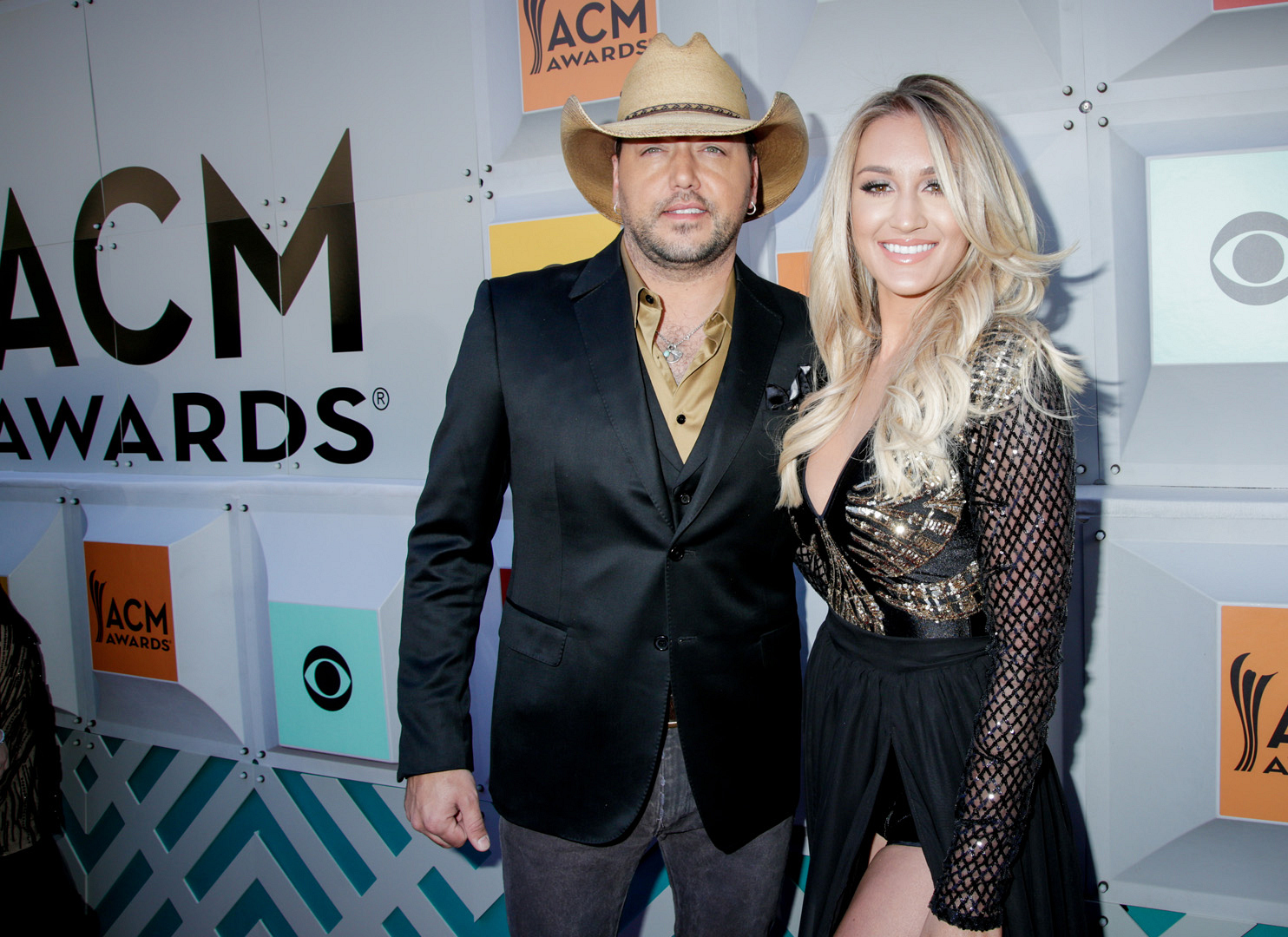 2016 ACMs: Jason Aldean and Brittany Kerr
