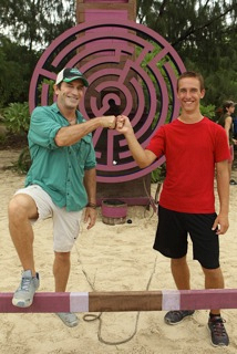 Jeff Probst with Nick Metzler, the Dream-Teamer that dreamed up this challenge!