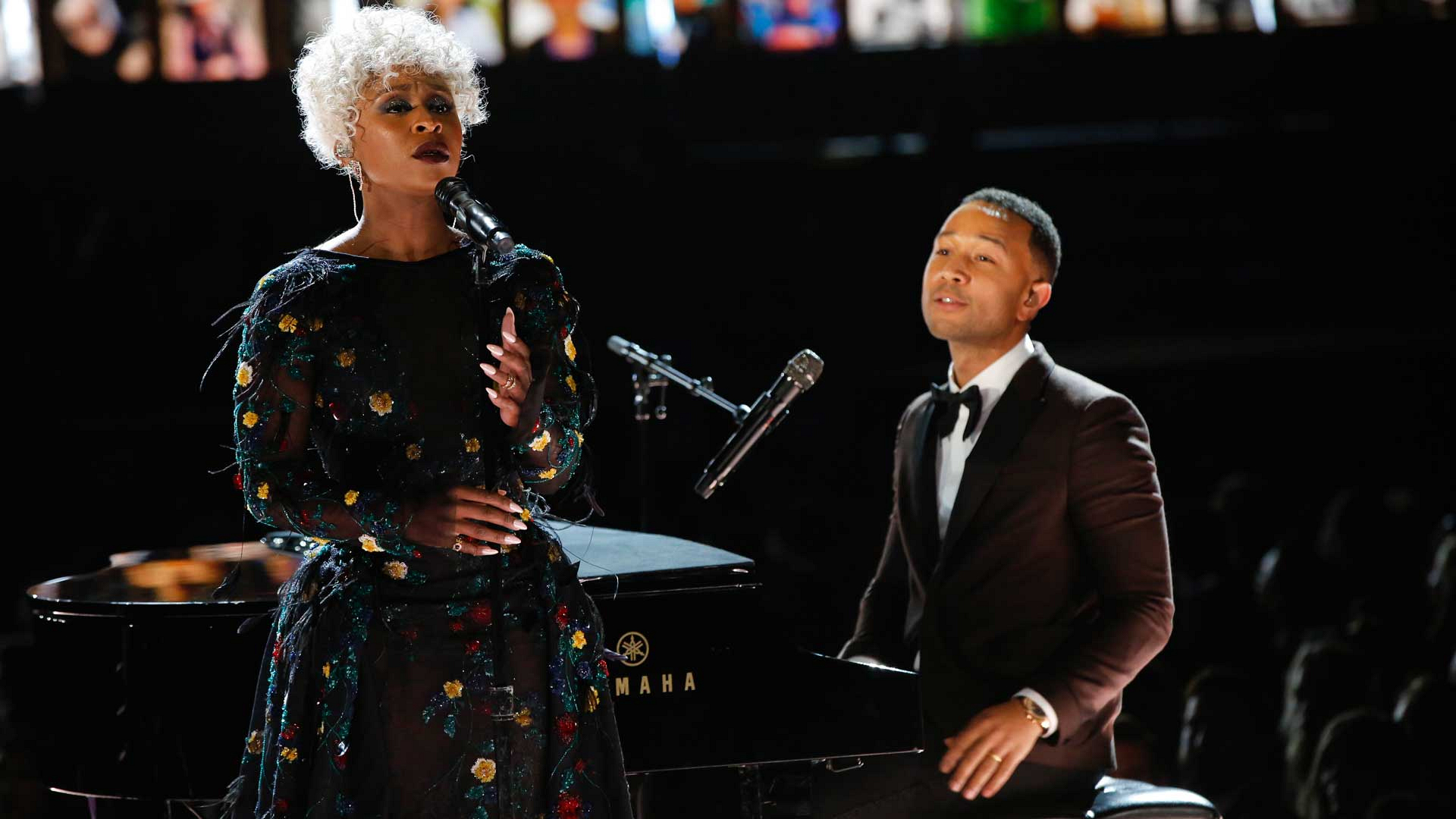 "John Legend and Cynthia Erivo perform ""God Only Knows"" at the 2017 GRAMMY Awards."