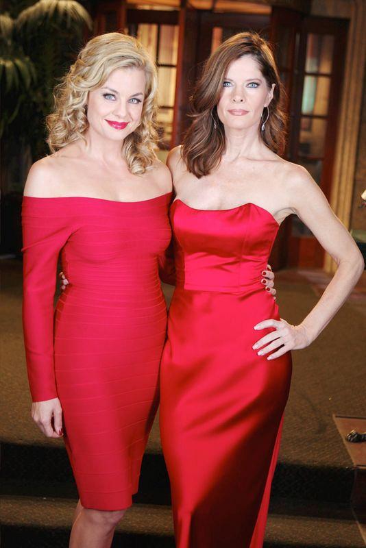 Jessica Collins and Michelle Stafford