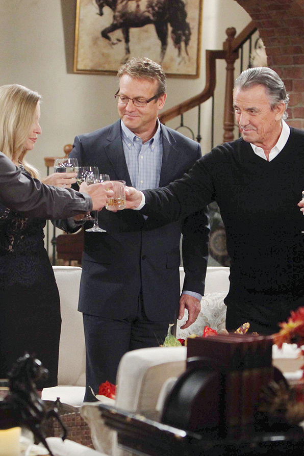 For sharing a toast with The Young and the Restless cast
