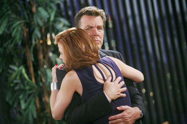 Jack is looking suspicious with hug from Phyllis.