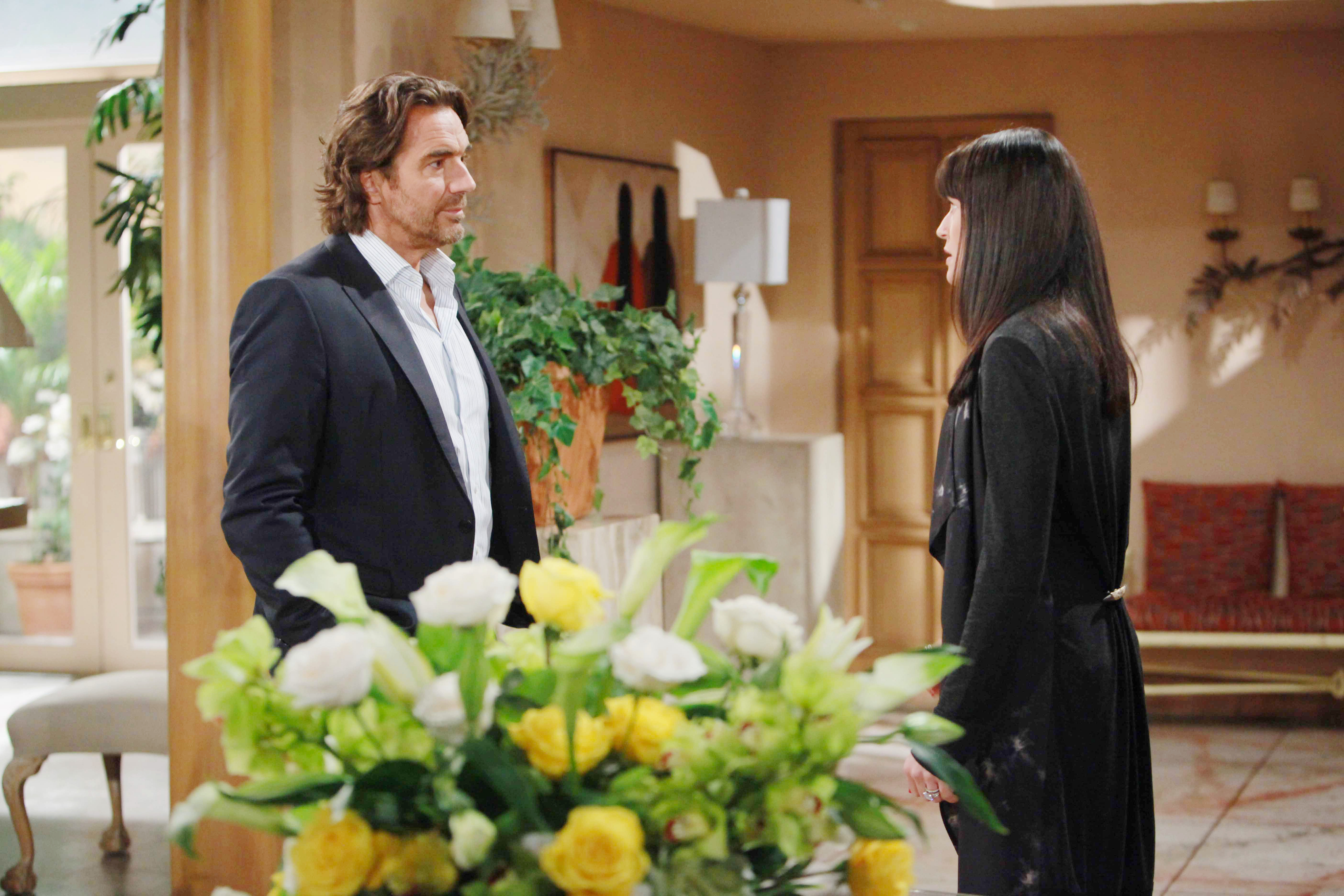 Ridge makes it crystal clear to Quinn that she is no longer welcome in the Forrester mansion.